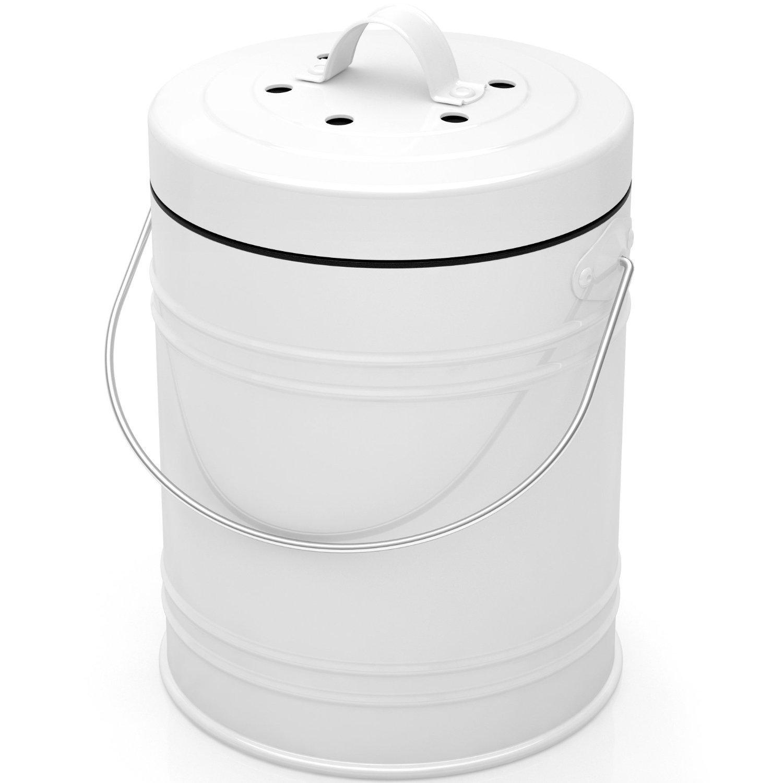 Amazon.com: Oversized 1.3 Gallon Kitchen Compost Bin with EZ-No Lock ...