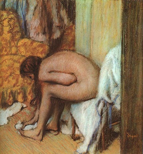 Edgar Degas Bath The After (Home Comforts Edgar Degas After The Bath Woman Drying Her Feet 1886 Laminated Poster Print 24 x 36)