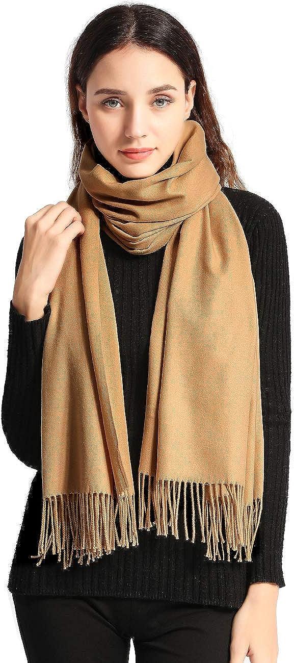 """Pashmina Scarf Women Soft Cashmere Scarves Stylish Large Warm Blanket Solid Winter Shawl Elegant Wrap 78.5""""x27.5"""""""