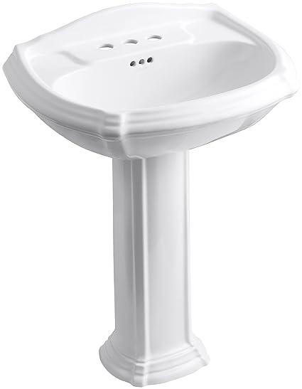 Kohler Portrait Pedestal Sink.Kohler K 2221 4 0 Portrait Pedestal Bathroom Sink With 4