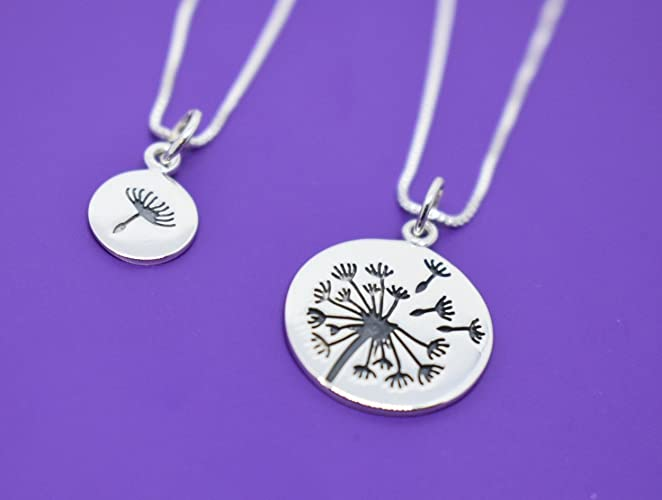 Amazon.com  Dandelion Mother Daughter Necklace -Mommy and Me - Mom ... ca284e03c
