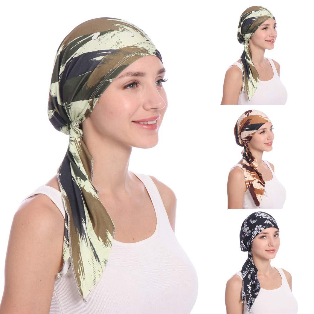 Zoylink Scarf Headwear Fashion Printing Chemo Headwear Head Wrap Turban Hat  for Women  Amazon.in  Clothing   Accessories 1aa373157db