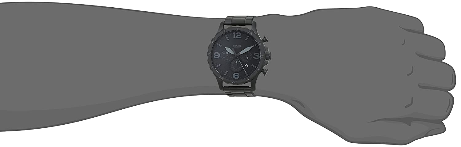 e2ba1333fe1 Amazon.com  Fossil Men s Nate Quartz Stainless Steel Chronograph Watch