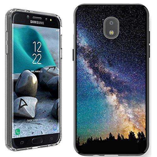 Galaxy J7 2018 Case [Milky way Forest](Black) PaletteShield Flexible Slim TPU skin phone cover (fit Samsung Galaxy J7 2018 J7v/Star/Refine)