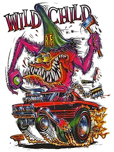 American Collectibles Rat Fink Wild Child Artwork on Metal Sign
