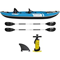 Driftsun Voyager 2 Person Inflatable Kayak - Complete All Accessories, 2 Paddles, 2 Seats, Double Action Pump More