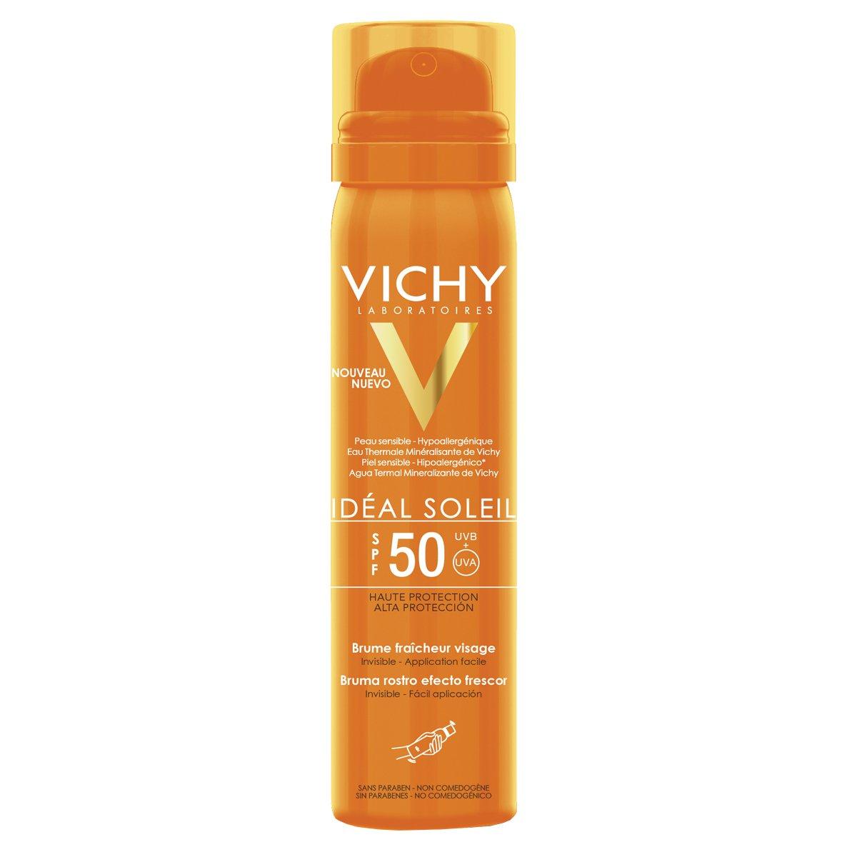 vichy ideal soleil spf 50+ spray viso invisibile 31612