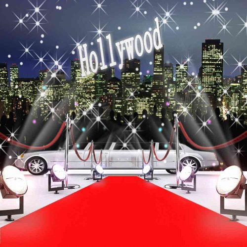 GladsBuy Hollywood Red Carpet and Limo 6' x 6' Computer Printed Photography Backdrop Stage Carpet Theme Background ZJZ-179 -