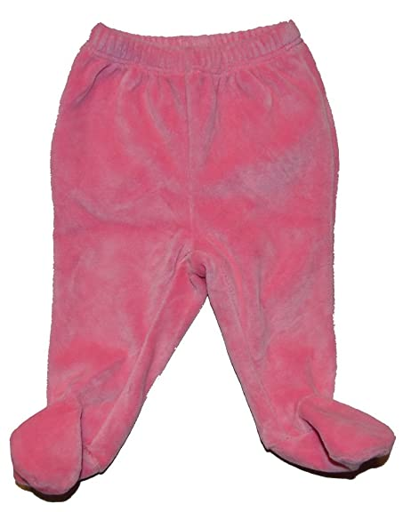 Amazon Com Baby Gap Girls Pink Velour Footed Pants Newborn Up To 7