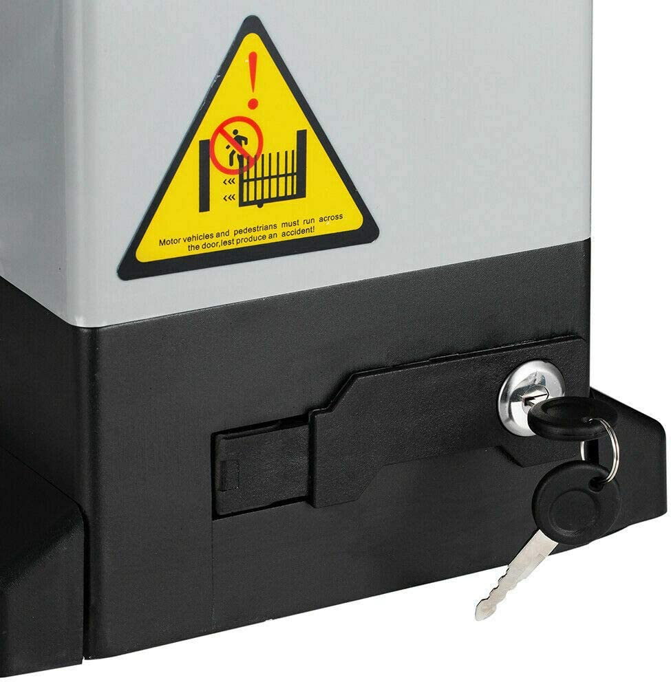 Elektrischer Schiebetorantrieb mit Infrarot-Sensor Hardware-Sicherheitsset f/ür die Schiebefahrt mit Fernbedienung und Zahnstange TABODD 750W Automatischer Schiebetor/öffner