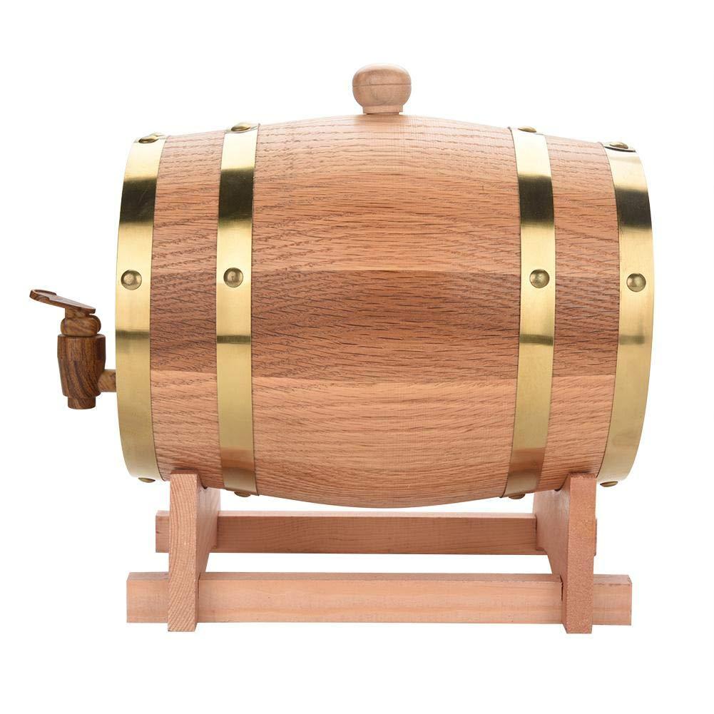 3L Vintage Wine Barrel,Wood Oak Timber Wine Barrel Dispenser for Beer Whiskey Rum Port - Great Gift for Men and Women