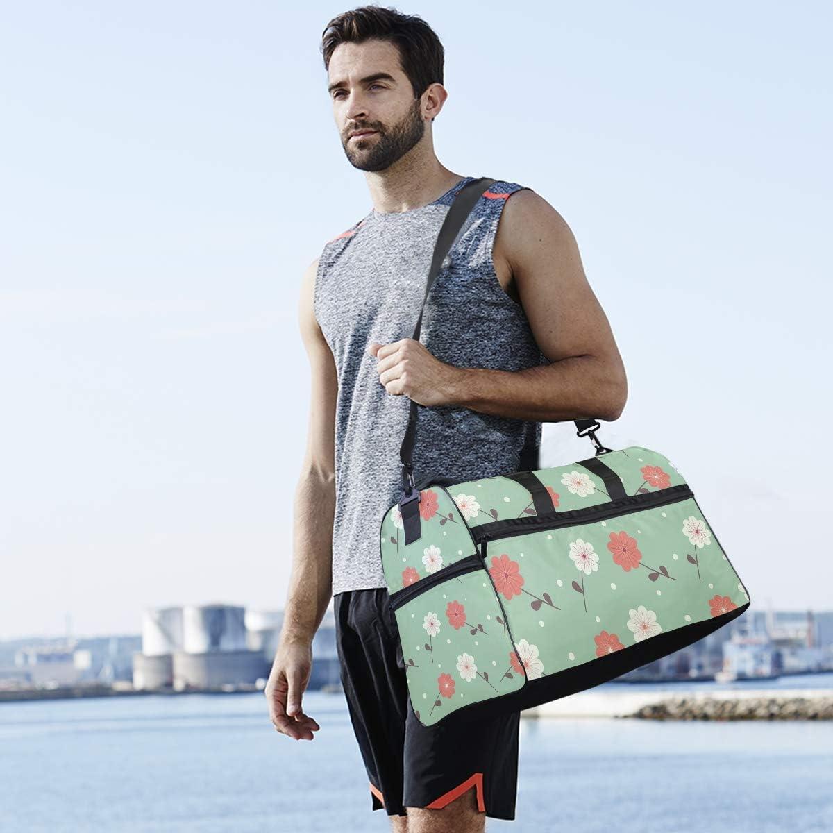 Travel Duffels Little Flower Duffle Bag Luggage Sports Gym for Women /& Men