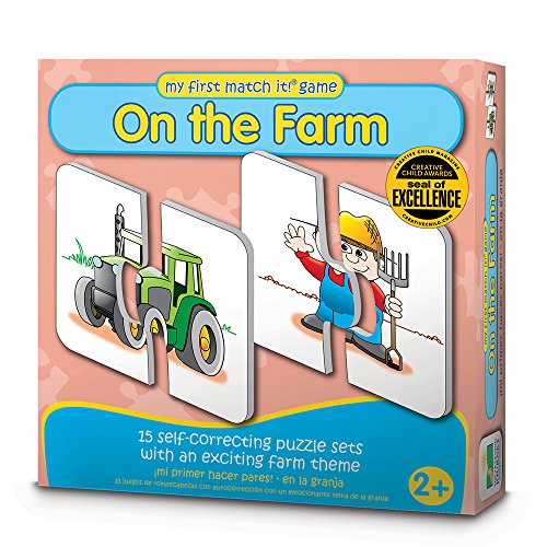 The Learning Journey My First Match It - On the Farm - 15 Self-Correcting Farming Image Matching Puzzles First Love Matches