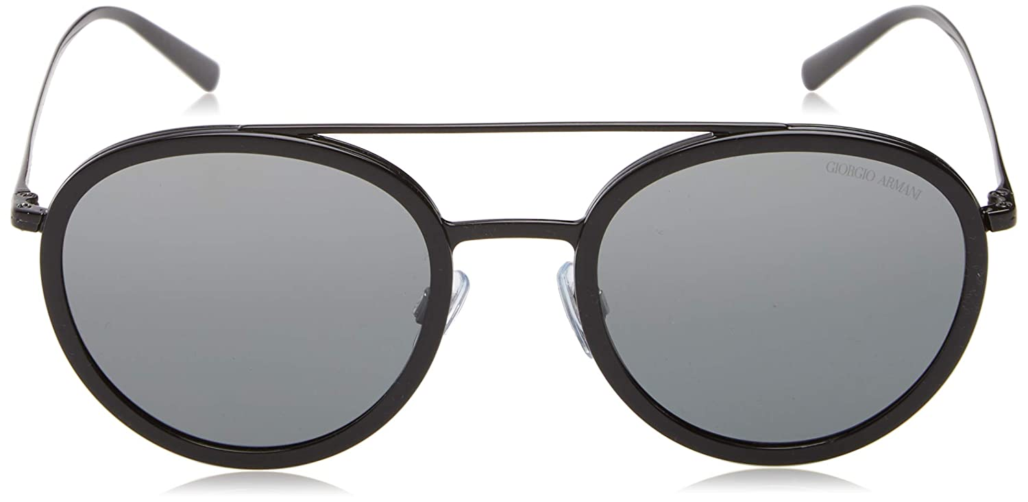 3d37afaad81 Sunglasses Giorgio Armani AR 6051 301488 BLACK at Amazon Men s Clothing  store
