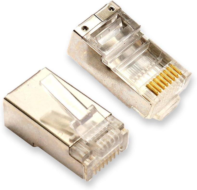 10pcs RJ45 Connector Plugs CAT5 CAT5r CAT6 8P8C