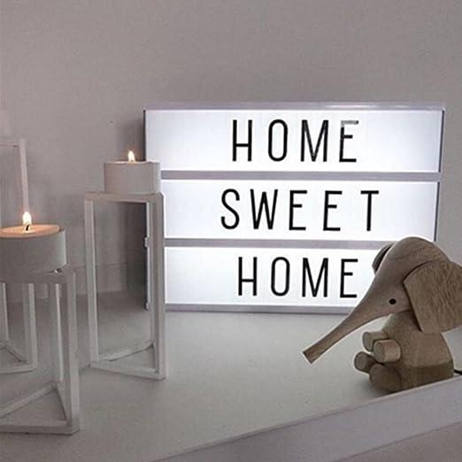 Caja de Luz Letras A4 LED, M. Way Light Box A4 Bombilla Buzón con letras Pantalla