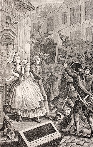 Costume Brawl (A Street Brawl In Paris In The 18Th Century From Xviii Siecle Institutions Usages Et Costumes Published Paris 1875 Poster Print (22 x)
