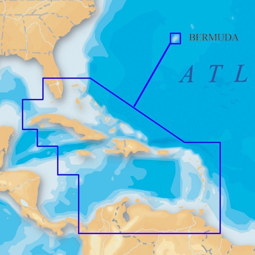 Navionics Platinum+ SD 908 Caribbean+Bermuda Nautical Chart on SD/Micro-SD Card - MSD/908P-2