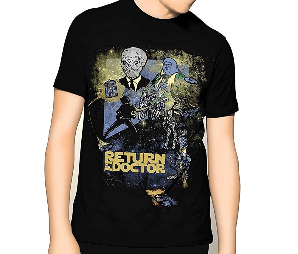 graceful shop Doctor Who Premium Graphic T-Shir Return of The Doctor Mashup