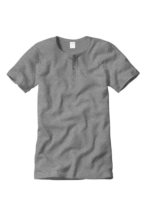 Ceceba 30665 Pyjama Shirt 3er Pack Grey Melange M bis 3XL