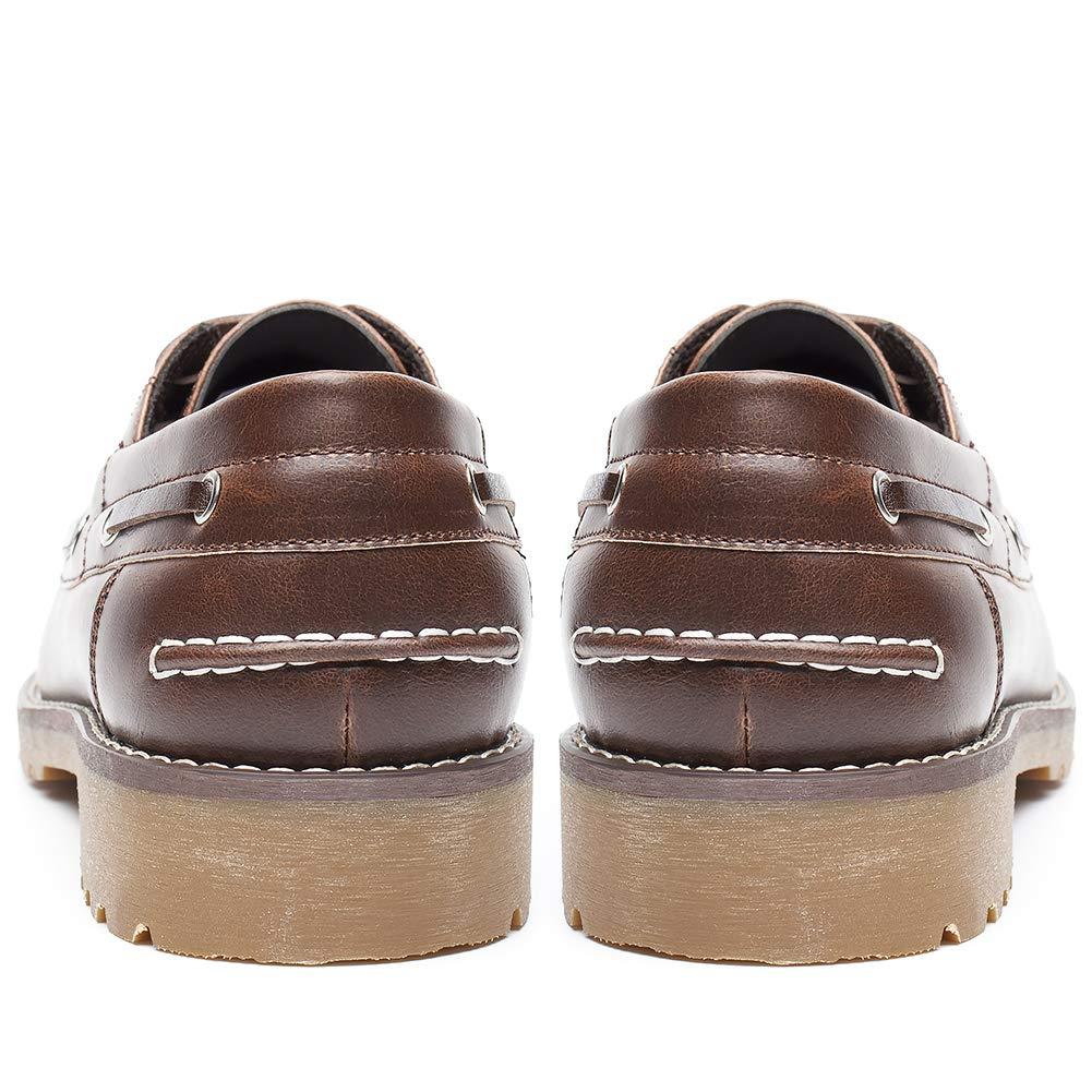 Zapatos Nauticos Barco Marrones para Hombres - Mocasines Cómodos Hombre, Adecuado para El Trabajo y el Uso Diario, Zapatos de Cordones Oxford, ...