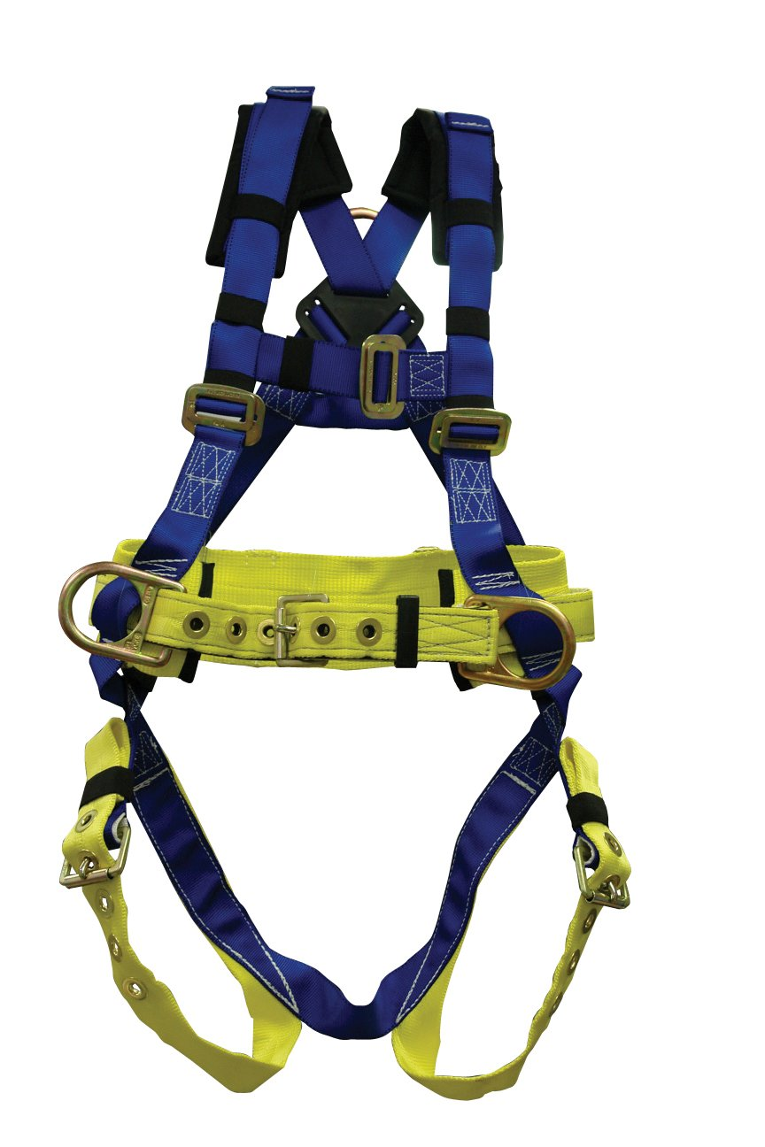Elk River 75304 WorkMaster Polyester/Nylon 3 D Ring Harness with Tongue Buckles, X-Large