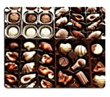 Box of Chocolates Candy Sweets Mouse Pads Customized Made to Order Support Ready 9 7/8 Inch (250mm) X 7 7/8 Inch (200mm) X 1/16 Inch (2mm) High Quality Eco Friendly Cloth with Neoprene Rubber MSD Mouse Pad Desktop Mousepad Laptop Mousepads Comfortable Computer Mouse Mat Cute Gaming Mouse_pad