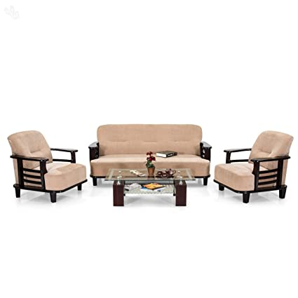 1f6cb3b9bf3 Royal Oak Comfort Sofa Set 3+1+1 (Cream)  Amazon.in  Home   Kitchen
