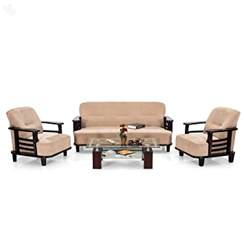 Royal Oak Comfort Sofa Set 3+1+1 (Cream)