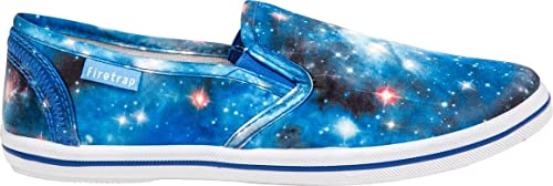 Mujer Zapatillas Casual Ligero Sin Cordones Galaxy ZAPATILLAS VERANO Firetrap Zapatos - Azul, 7 UK