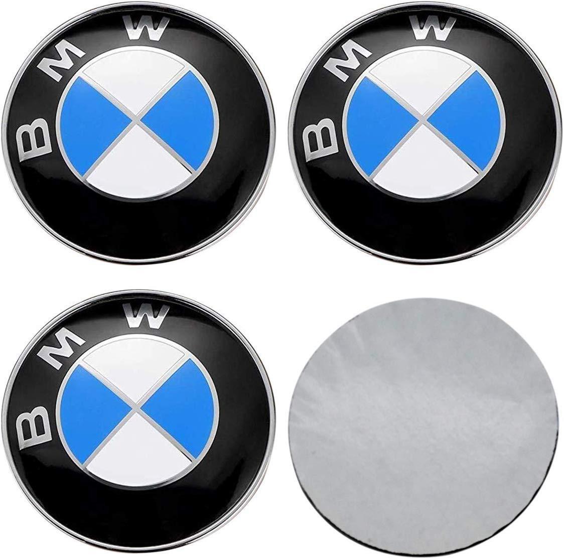 Tire Valve Stem Caps Cover for BMW Keychain for BMW 9pcs,65mm BMW Emblem Badge Sticker Wheel Hub Caps Centre Cover