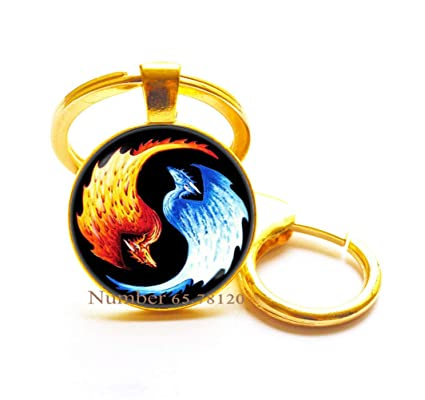 Dragons Yin Yang Llavero Yin Yang Llavero Dragon Yin Yang ...