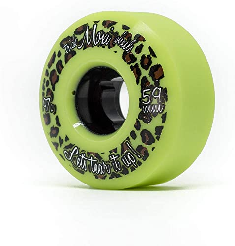 Moxi Skates – Trick Wheels – Roller Skate Wheels – 4 Pack of 59mm 97A Wheels Lime