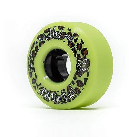 Moxi Skates – Trick Wheels – Roller Skate Wheels – 4 Pack of 59mm 97A Wheels Lime