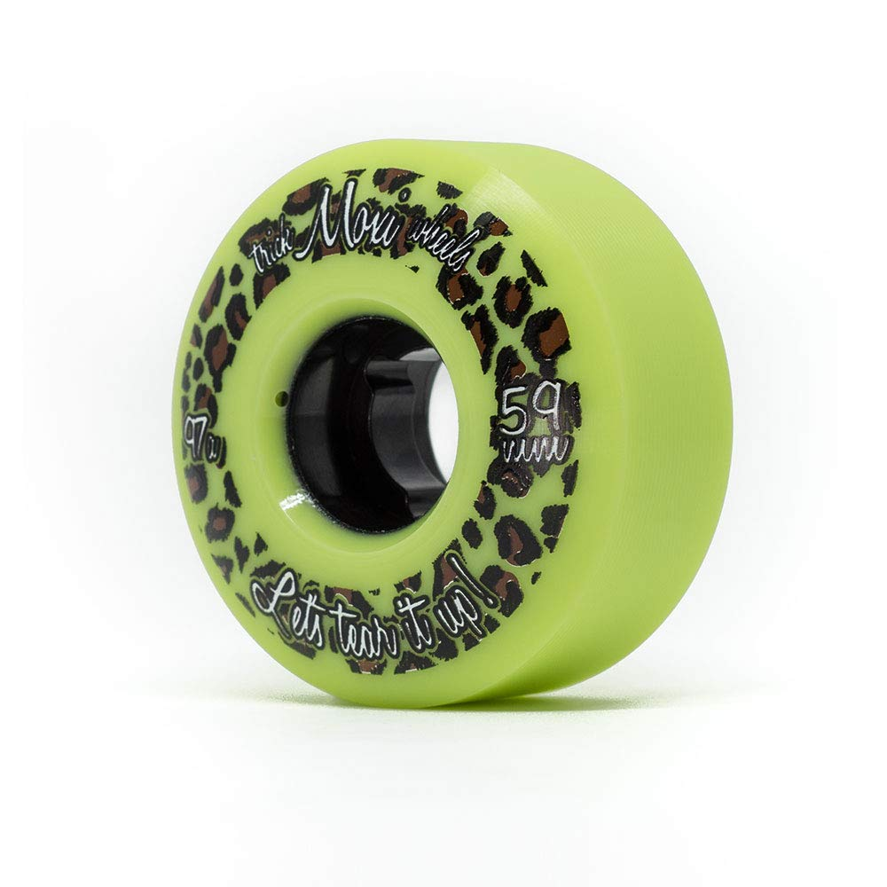 Moxi Skates - Trick Wheels - Roller Skate Wheels - 4 Pack of 59mm 97A Wheels | Lime