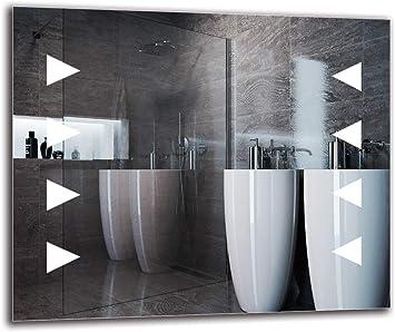 Miroir avec /éclairage ARTTOR M1CP-50-40x40 Miroir de Salle de Bain Miroir Lumineux Pr/êt /à laccrochage Miroir Mural Blanche Chaude 3000K Taille du Miroir 40x40 cm Miroir LED Premium