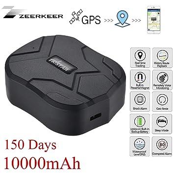 Zeerkeer GPS Tracker GPS/GSM Satélite Tracker Antirrobo en Tiempo Real Portátil para Coche Moto
