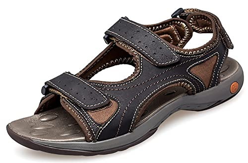8bf00df008e ODEMA Men Summer Leather Sandals Athletic and Outdoor Shoes  Amazon.co.uk   Shoes   Bags