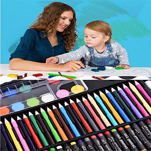 JIANGXIUQIN Artist Art Drawing Set, Watercolor Brush 258pcs Brush Pencils Set Water Color Pens with Flexible Nylon Brush Tips for Watercolor Painting Gifts for Children and Children. (Color : Color) by JIANGXIUQIN (Image #6)