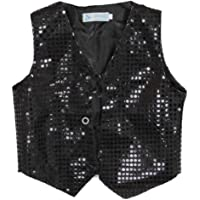 439ac276c ARAUS Kids Sequin Vest Jacket Glittery Waistcoat Jazz Hip-Hop Dance Party  Costume 4-