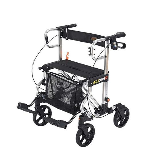 MANO walker III - Andador Plegable con Ruedas, con Asiento y ...