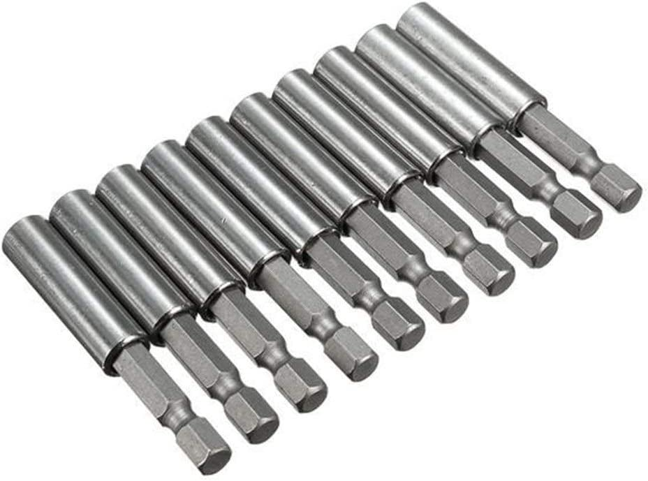 Gulakey Drill Bit Set 10pcs 1//4 Inch Hex Shank Release Magnetic Extension Socket Drill Bit Holder Power Tools for Rotary Tool