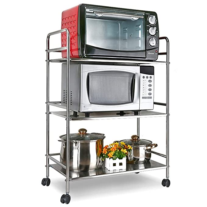 Yhjklm-HOME Estante de Cocina Horno microondas de Acero Inoxidable ...