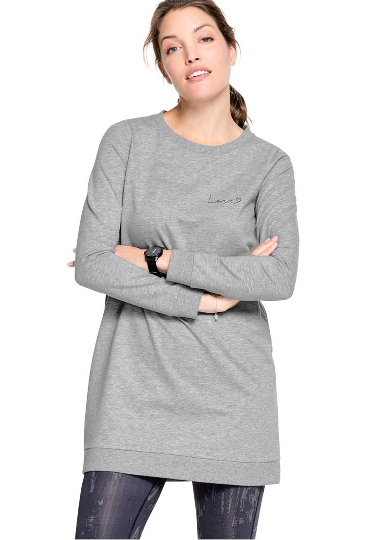 Ellos Women's Plus Size Love Tunic Sweatshirt