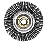 Weiler 13131 ROUGHNECK MAX 4'' Stringer Bead Wire Wheel, .020'' Steel Fill, 5/8''-11 UNC Nut, Made in USA, Pack of 100