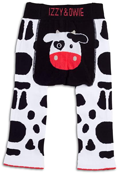 15db4bc4d Amazon.com: Izzy & Owie - 12-24 Month Cow Baby Girl Leggings: Clothing