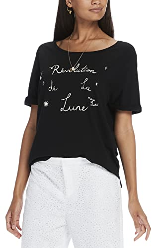 Scotch & Soda Maison French Inspired Short Sleeve tee, Camiseta para Mujer