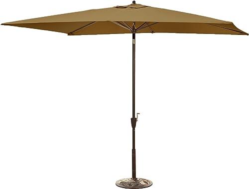 Island Umbrella NU5433SS Adriatic Rectangular Market Umbrella Sunbrella Acrylic