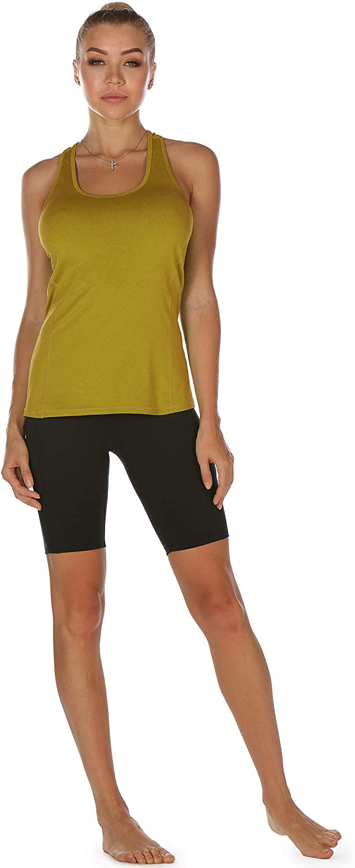 icyzone Damen Sporttop Yoga Tank Top Ringerr/ücken Oberteil Laufen Fitness Funktions Shirt