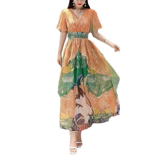 Vestido, Playa Falda Mujer Tamaño Grande Falda Larga Estampado de ...